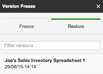 Version Freeze 1.4