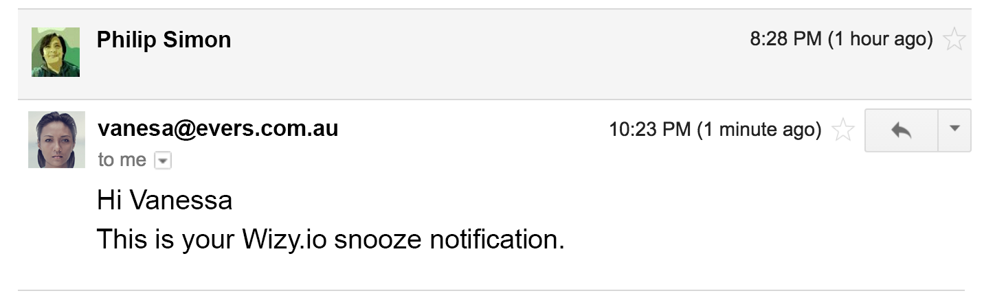 snooze notification for blog