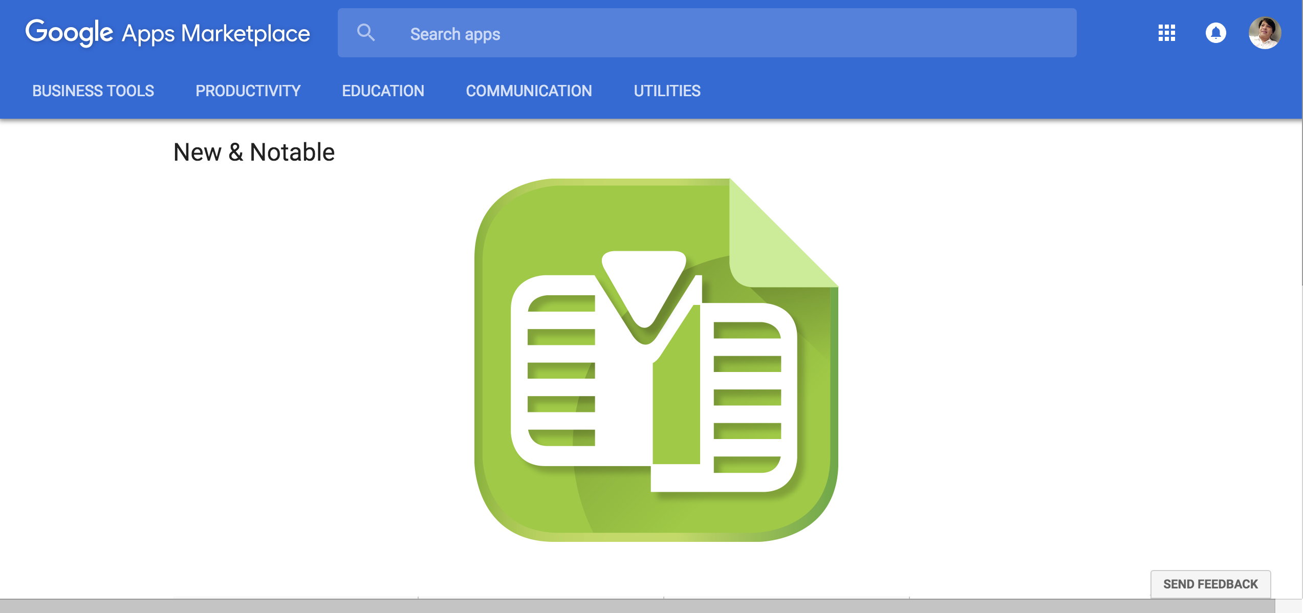Wizy.io's Doc Merge & Mail Merge add-on is chosen as a New & Notable app in the Google Apps Marketplace